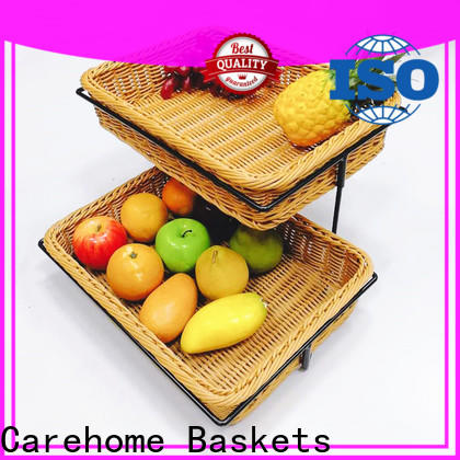 Carehome microwave safety wicker storage baskets for shelves manufacturer for market