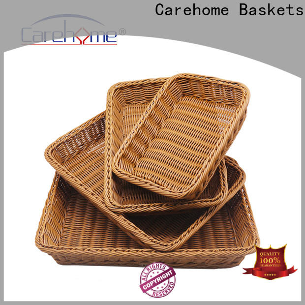 Carehome cake wicker storage baskets for shelves with high quality for supermarket