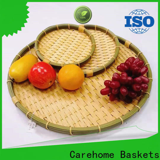 Carehome round bamboo basket malaysia for market