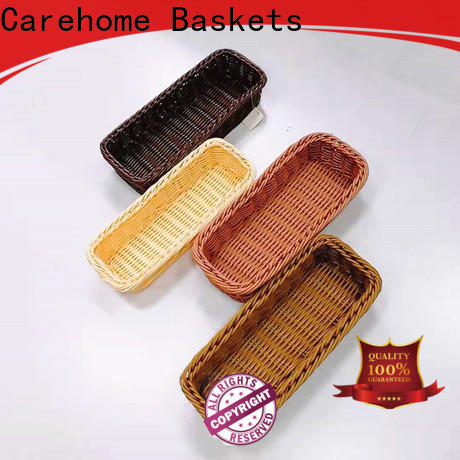 Carehome bamboo storage baskets manufacturer for supermarket