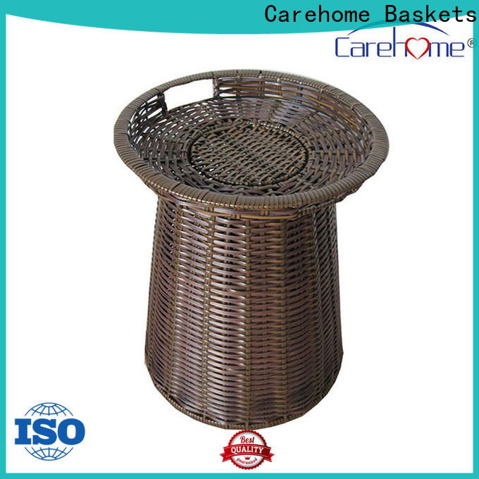 Carehome rectangle wicker basket with certificates for shop