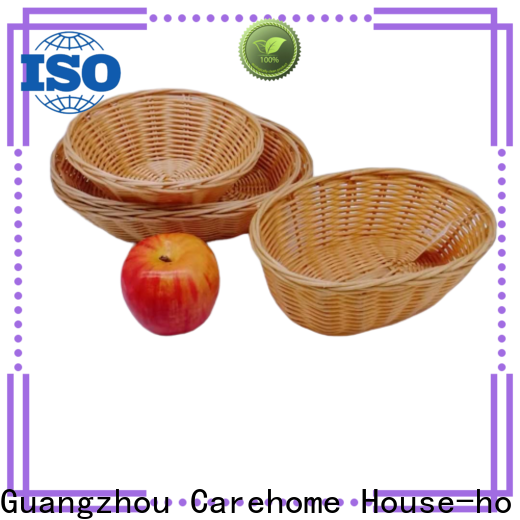 Carehome safety rattan bread basket wholesale for supermarket