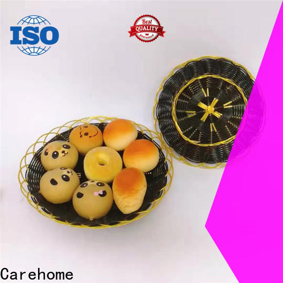 Carehome shape wicker bread basket manufacturer for family