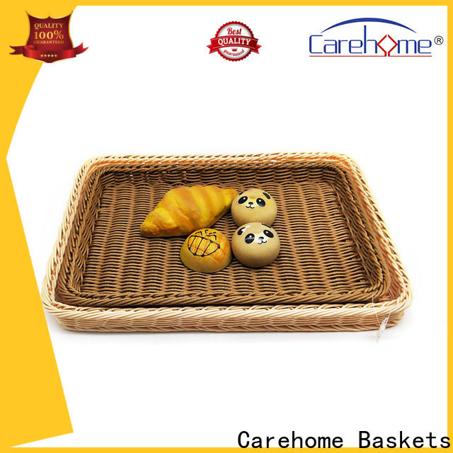 Carehome handicraft wicker storage baskets for shelves wholesale for family