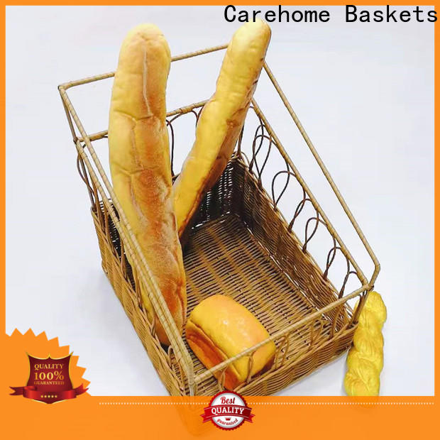 Carehome graceful rattan bread basket with high quality for family