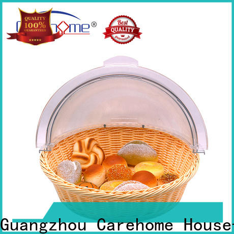 Carehome handicraft wicker bread basket with high quality for shop