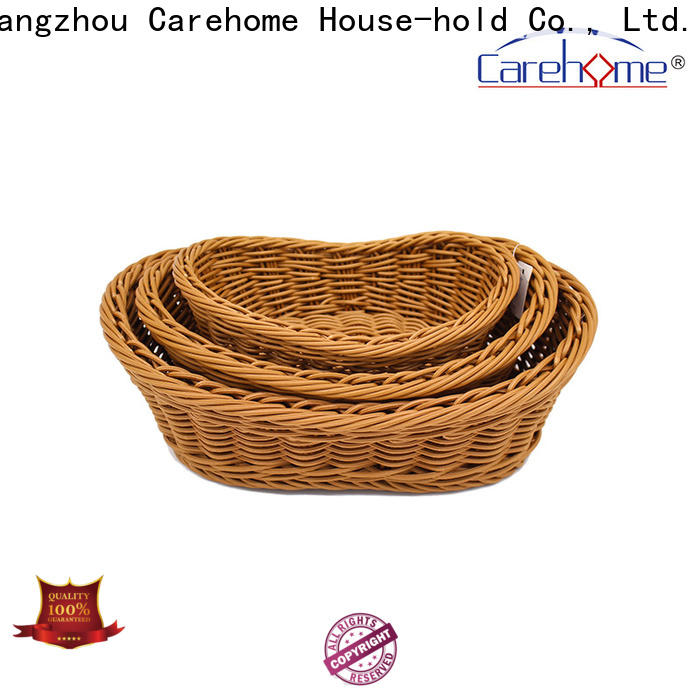 Carehome test wicker storage baskets for shelves wholesale for family