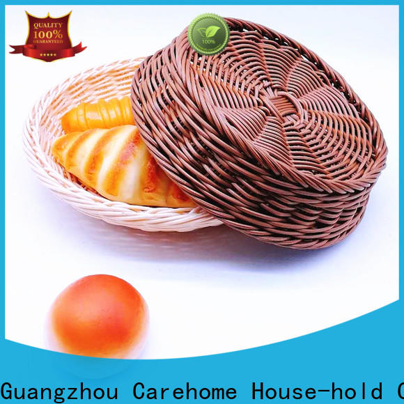 Carehome durable wicker baskets kitchen wholesale for family