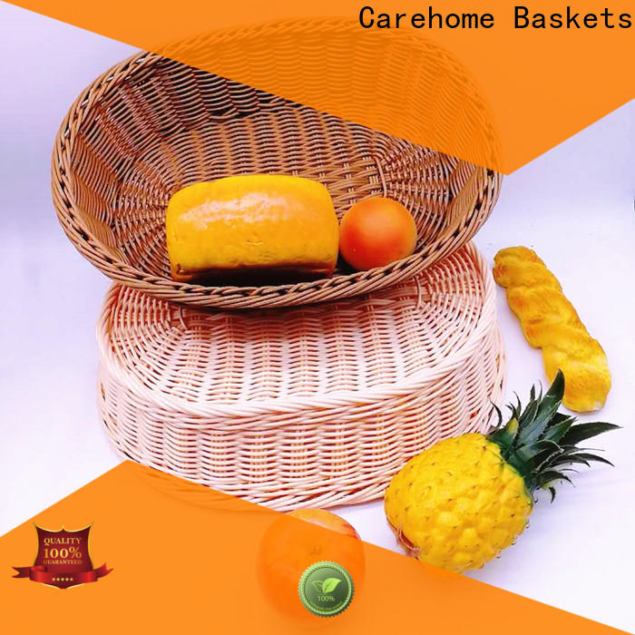 Carehome handmade wicker storage baskets for shelves manufacturer for supermarket