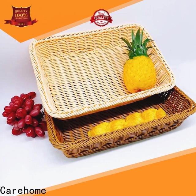 Carehome plastic rattan bread basket manufacturer for market