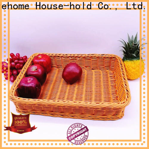 Carehome durable shopping wicker basket with certificates for family