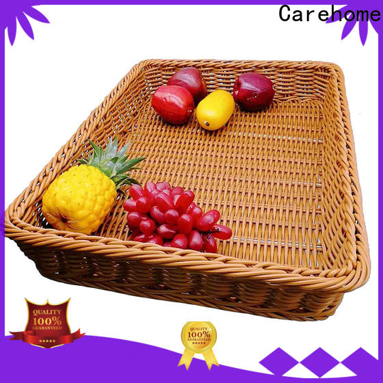 Carehome wicker shopping wicker basket with high quality for market
