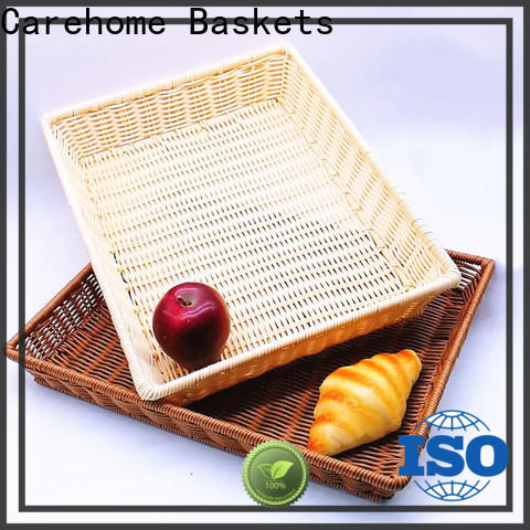plastic rattan bread basket tray with high quality for supermarket