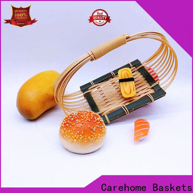 Carehome foods bamboo basket with handle for shop