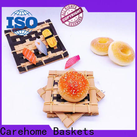 Carehome washable bamboo basket making ecofriendly for supermarket