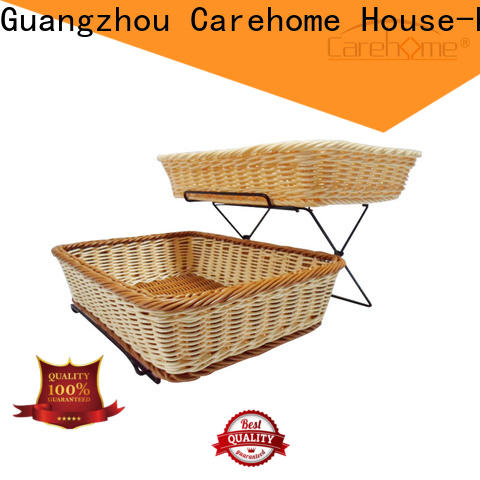 Carehome tot1023 wooden bread basket with high quality for supermarket