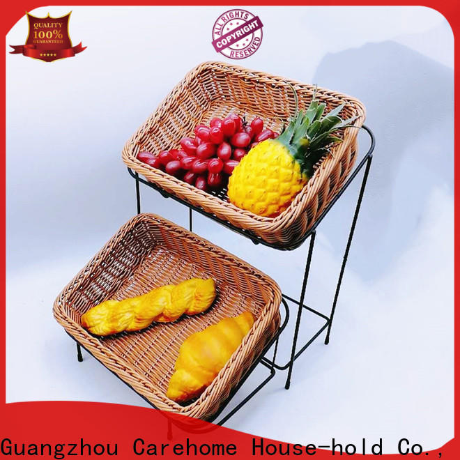 plastic bread basket woven with high quality for shop