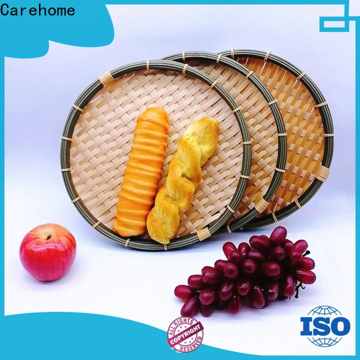 hollow white bamboo basket daily ecofriendly for market