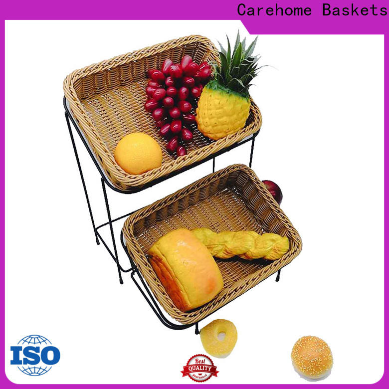 foldable bakery basket metal with high quality for market