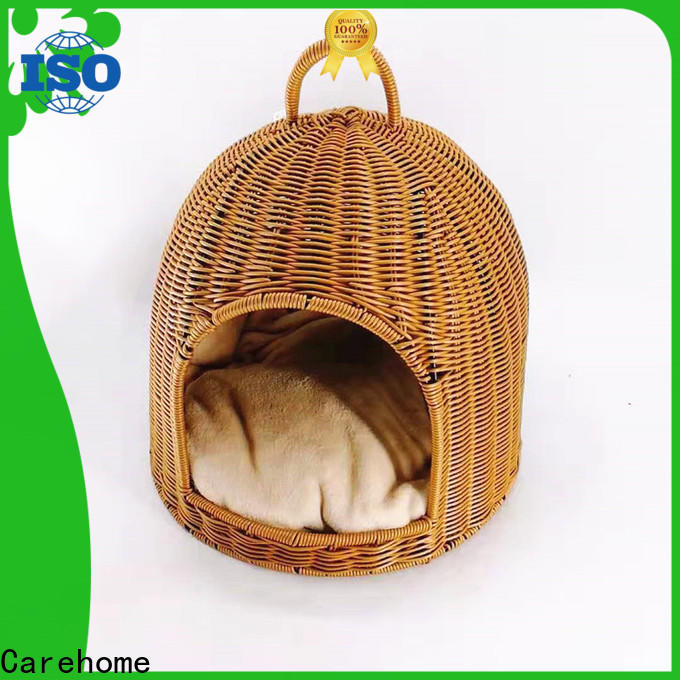 Carehome washable pet basket bed with certificates for market