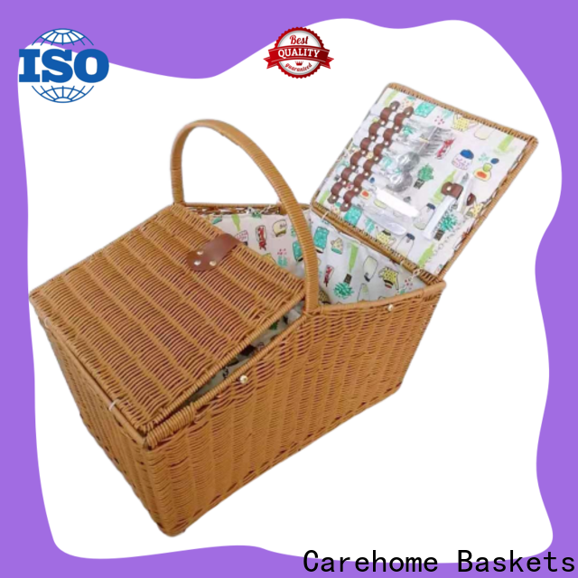 Carehome handwaving white hamper basket manufacturer for supermarket