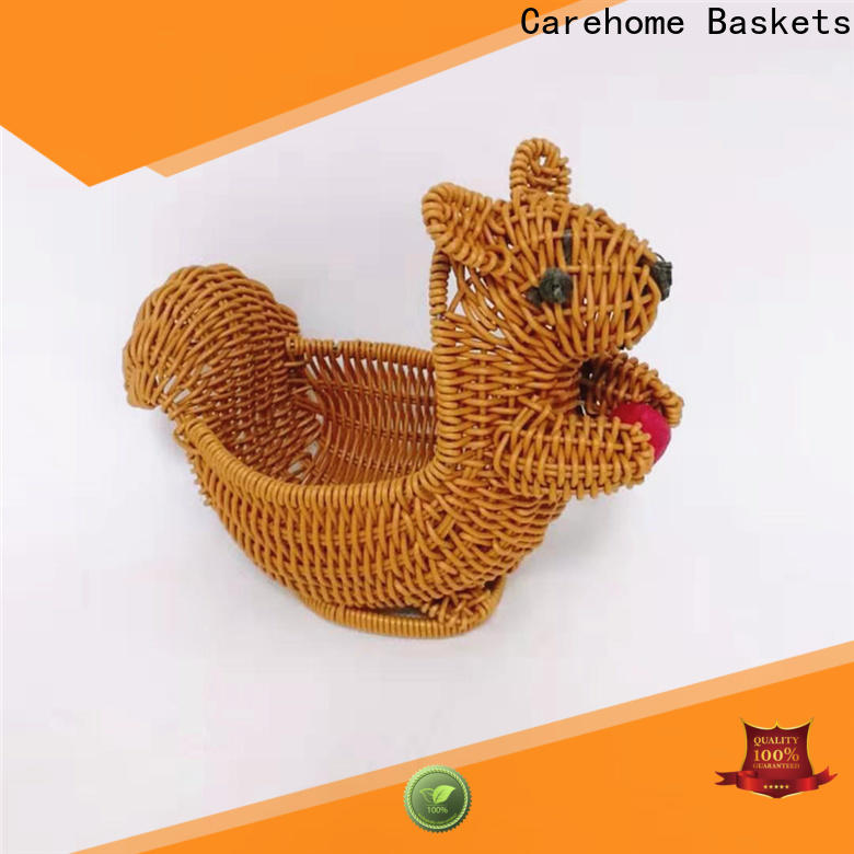 Carehome decorative wicker gift baskets wholesale for supermarket