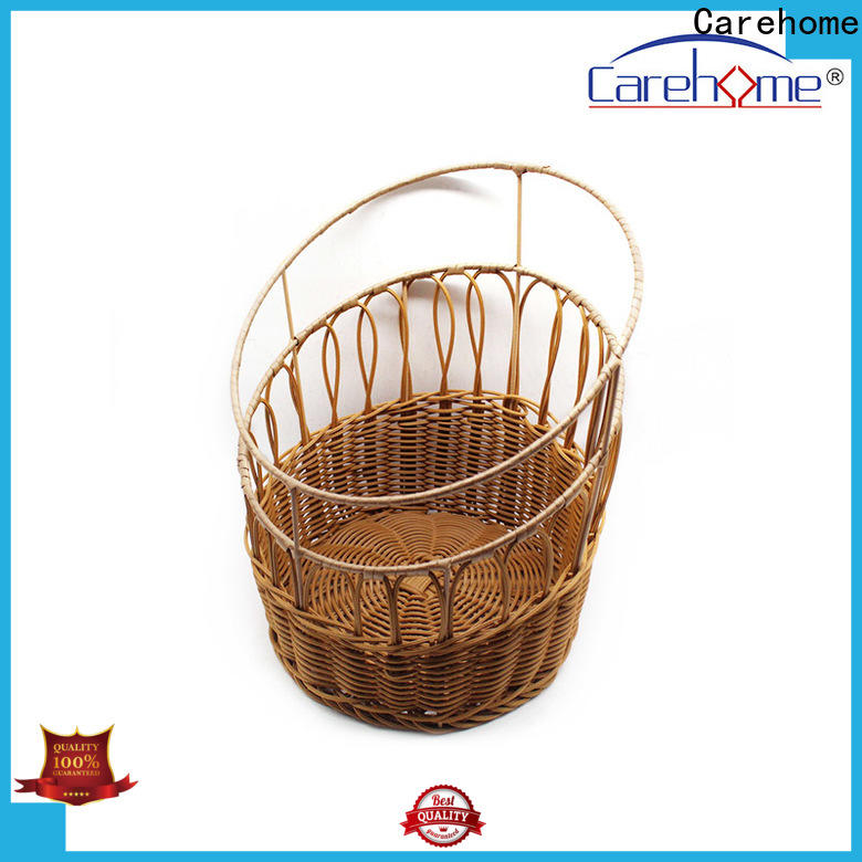 Carehome handicraft bamboo bread basket supplier for market