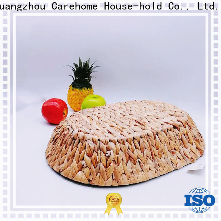 handwaving woven seagrass basket hyacinth manufacturer for family