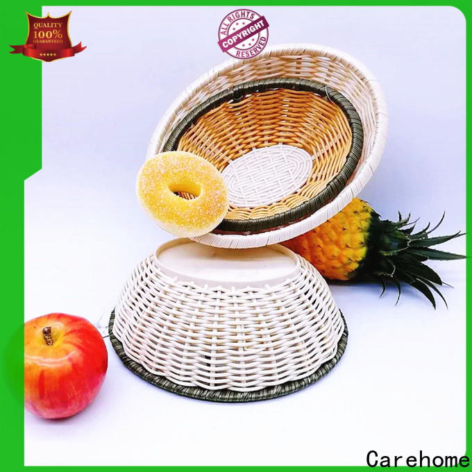 Carehome round bamboo basket decoration ecofriendly for market