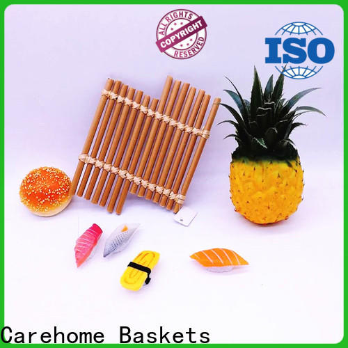 round bamboo basket restaurant multifunctional easy to clean for supermarket