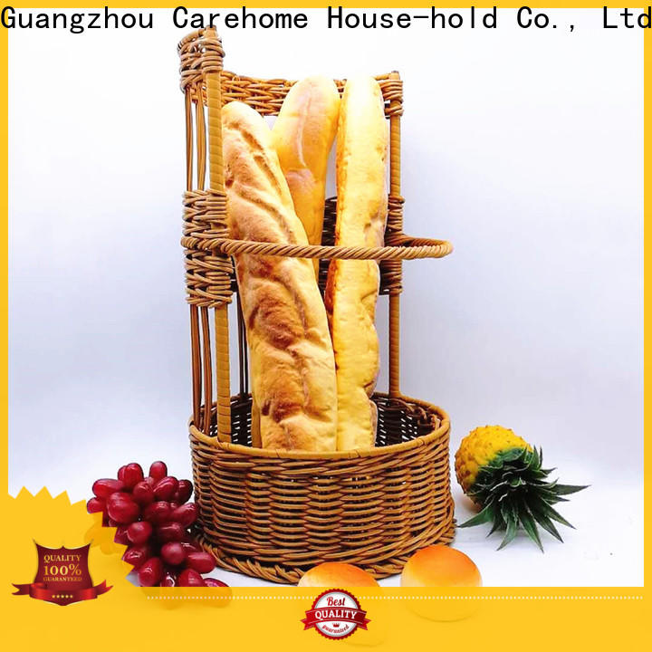 Carehome handmade rattan bread basket with high quality for market