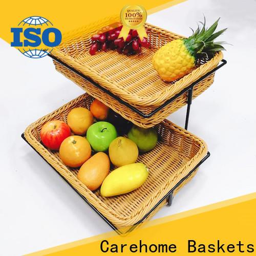 Carehome moistureproof wicker basket manufacturer for family