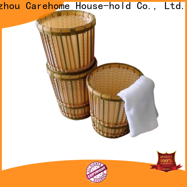 Carehome round the bamboo basket easy to clean for supermarket