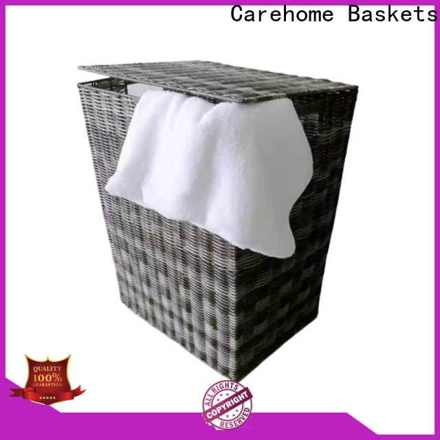 Carehome washable wicker laundry basket supplier for sale