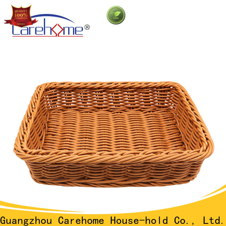 Carehome non-toxic shopping wicker basket wholesale for supermarket