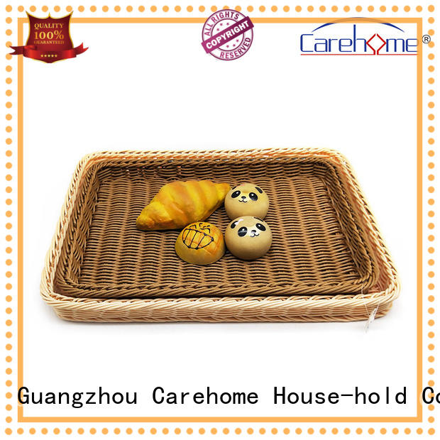 foldable wicker bread basket iron stand with high quality for family