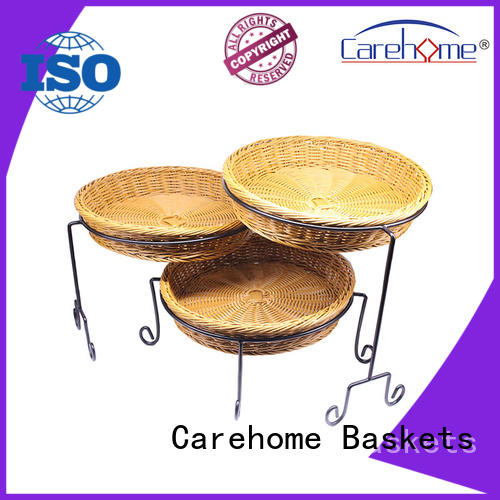 TRM-1042 wholesale Washable plastic circular rattan basket
