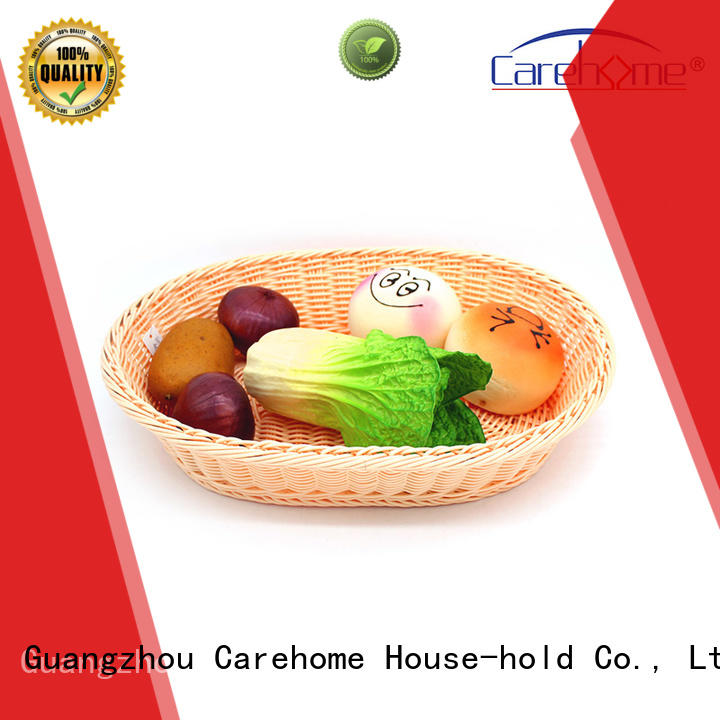 Carehome circular rattan bread basket manufacturer for supermarket