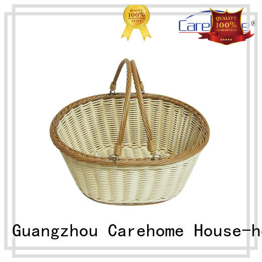 BOt-1004  Graceful hand weaved oval plastic rattan handle basket, Storage basket