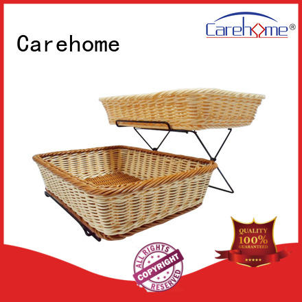 BSL-1036 CAREHOME factory wholesale foldable supermarket fruit and vegetable stand display shelf with pp rattan basket