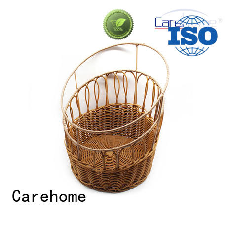Carehome plastic wicker bread basket with high quality for supermarket