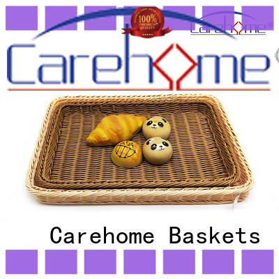 LB-1024 factory wholesale hand weaved poly rattan hollow wire basket bread basket