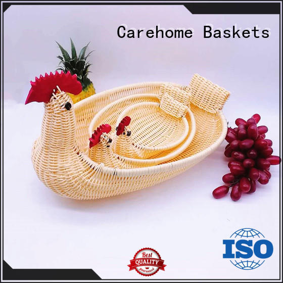 Carehome natural empty gift baskets pp for market