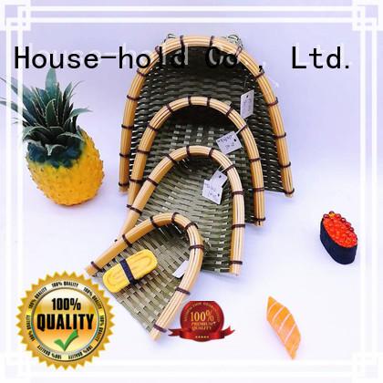 graceful Bamboo Basket on sale for supermarket