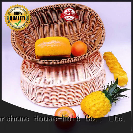 plastic plastic bread basket with handle for shop