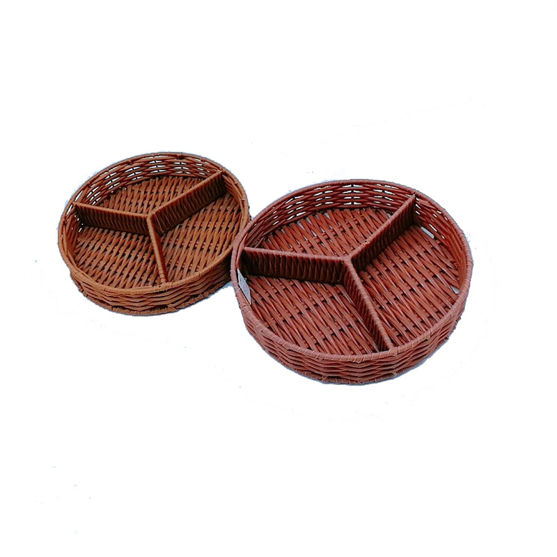 application-Handicraft round divided rattan cutlery basket for catering-Carehome-img