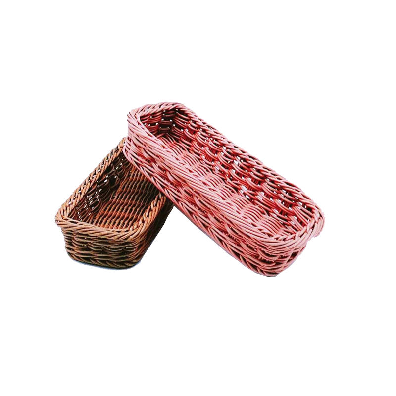 BL-1001 Handcraft Plastic Rattan Knife And Fork Basket For Restaurant