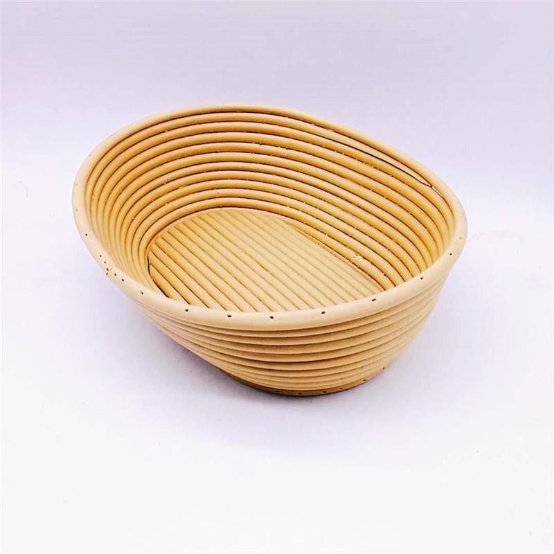 Hand Woven Bread Fermenting Basket Oval Rattan Banneton Bread Proofing Basket