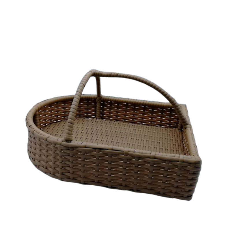 Wholesale Handcraft Plastic Rattan Wicker Shoes Basket for Hotel Bathroom
