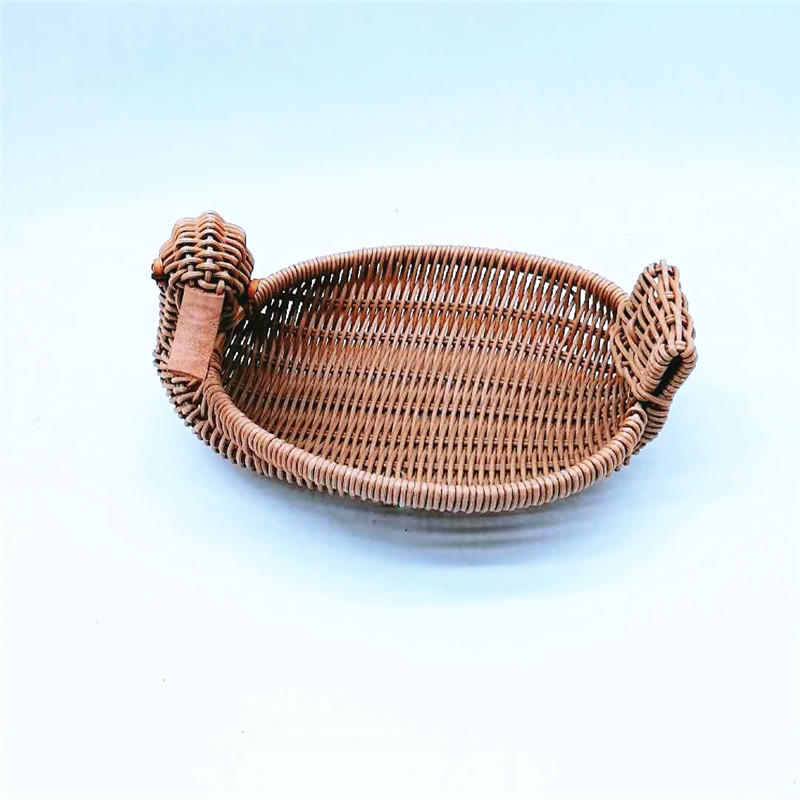 Factory hot-selling hand woven animal shape rattan PP storage basket